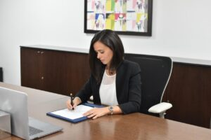 Signing MoU with Evolvin' Women