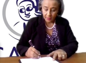 Signing MoU with Evolvin' Women Nigest